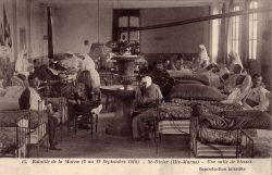 Saint-Dizier – Bataille de la Marne (6 au 12 septembre 1914) – Une salle de blessés