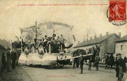 Saint-Dizier – Marnaval – Cavalcade des Usines (5 avril 1908) – Char des Forgerons
