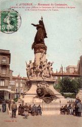 Avignon – Monument du Centenaire inauguré en 1891 pour célébrer le Centenaire de l'Annexion d'Avignon et du Comtat-Venaissin à la France