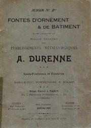 Ets métallurgiques A. Durenne, album n°2bis fontes d'ornement et de Bâtiment