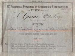 L. Gasne, Mtre de forges Hauts fourneaux, fonderies et ateliers de constructions