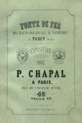 Fontes de fer des hauts fourneaux & fonderies de Tusey (Meuse) Exposition de 1867 N° 48 (ancien 66)
