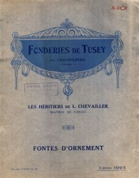 Fonderies de Tusey Les Héritiers de L. Chevailler maîtres de forges, Fontes d'ornement