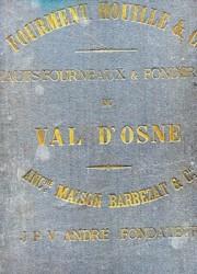 Fourment Houille & Cie Hauts fourneaux & Fonderies du Val d'Osne Ancienne maison Barbezat & Cie JPV André Fondateur