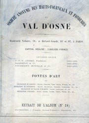 S.A. des Hauts fourneaux et fonderies du Val d'osne Extrait de l'album n° 18