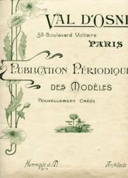 Val d'Osne Publication périodique des modèles nouvellement créés