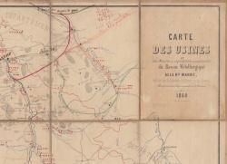 Carte des usines du bassin métallurgique de la Haute Marne