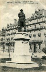 Dijon – Statue de Rude sculpteur dijonnais (1784-1852) par Joseph Tournois, inaugurée en 1886
