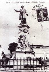 Aigues-Vives – Statue d'Émile Jamais