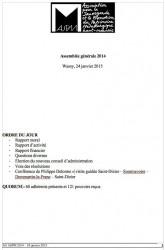 Rapport d'activité et rapport moral 2014 ASPM