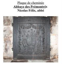 Plaque de cheminée, abbaye des Prémontrés
