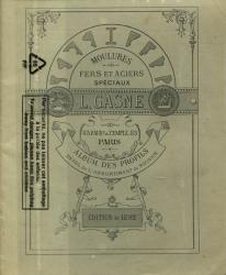 Moulures, fers et aciers spéciaux – L. Gasne – Album des profils