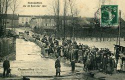 Chamouilley – Inondation du 20 janvier 1910 – Le pont de la Marne
