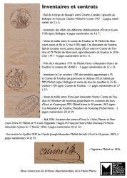 Inventaires et contrats – Dossier  Frères Michel   (AD 52)