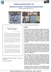 Archives des ateliers Averly S. A. – Mémoire de l'industrie