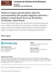 Dômes et signes spectaculaires dans les couronnements des grands magasins parisiens : Dufayel, Grand-Bazar de la rue de Rennes, Printemps, Samaritaine