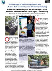 """Icomos Costa-Rica récompense le travail de Sergio Orozco Abarca sur la fontaine """"Boy and Swan"""""""