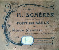 H. Schérer – Maître de Forges – Pont-sur-Saulx – Meuse – Album général des Fontes d'Ornements n° 1 – Fonderies et ateliers de construction