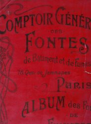 Comptoir général des fontes de bâtiment et de fumisterie – Album des fontes de fumisterie
