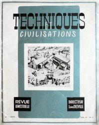 Techniques et civilisations – Vol. IV – N° 3