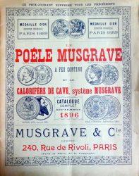 Musgrave & Cie – Le poêle Musgrave à feu continu et le calorifère de cave, système Musgrave – Catalogue complet 1896