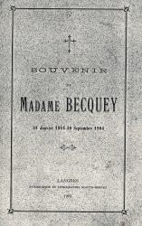 Souvenir de Madame Becquey : 28 janvier 1818 – 30 septembre 1904