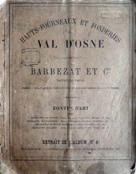 Hauts-fourneaux et fonderies du Val d'Osne – Barbezat et Cie – Extrait de l'album n° 4