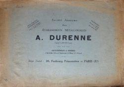 Société anonyme des établissements métallurgiques A. Durenne – Haut-fourneaux & Fonderies à Bar-le-Duc, Sommevoire, Wassy