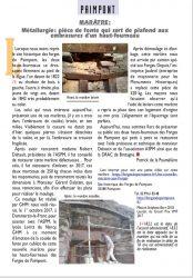 Forges de Paimpont  : la marâtre réinstallée