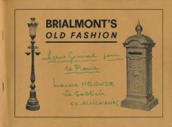 Brialmont's old fashion – S.A. des fonderies Briamont Arté